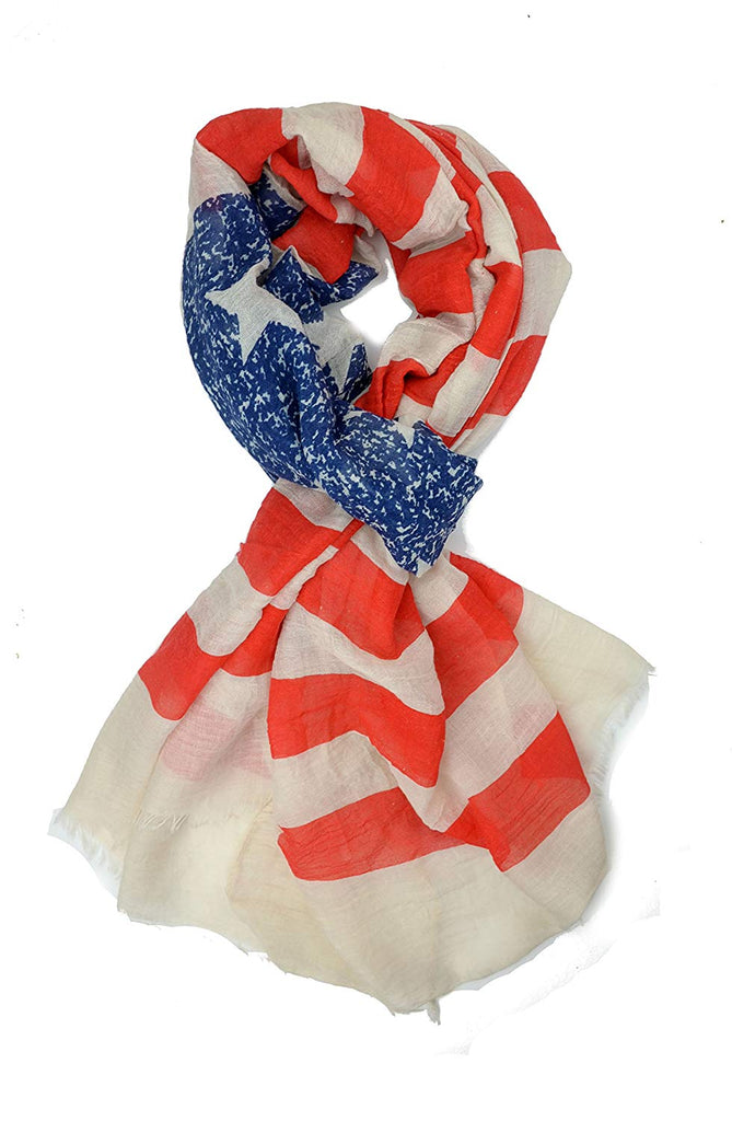 Flag Scarf, Patriotic, Red, White and Blue American Flag Scarf