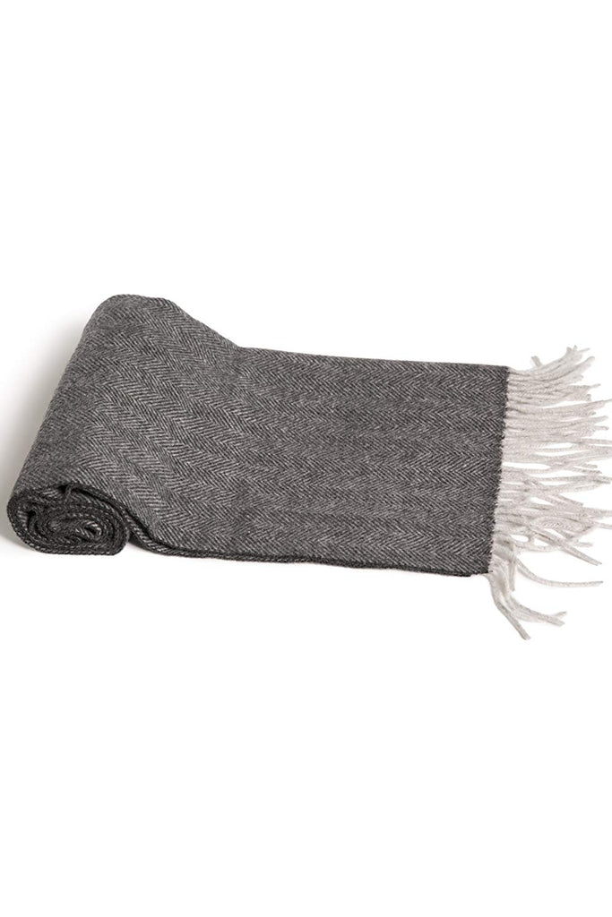 Fishers Finery Mens 100/% Pure Cashmere Winter Scarf; 2-Ply Dehaired
