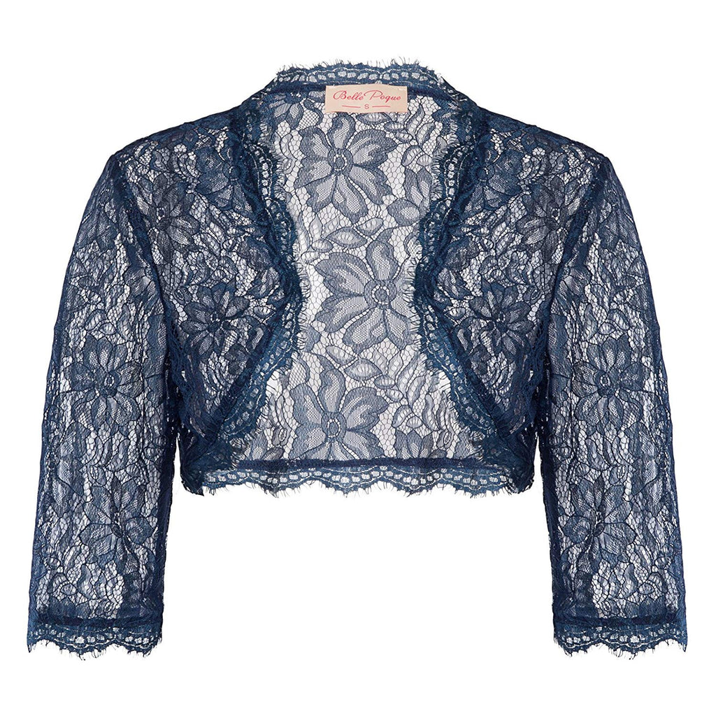 Fashion Vintage Dress Women's Long Sleeve Floral Lace Shrug Bolero Cardigan JS49