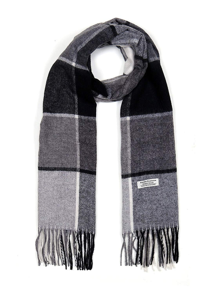 Wool Scarf, Faurn Fashion Plaids Stripes Long Wool Warm Neck Scarves