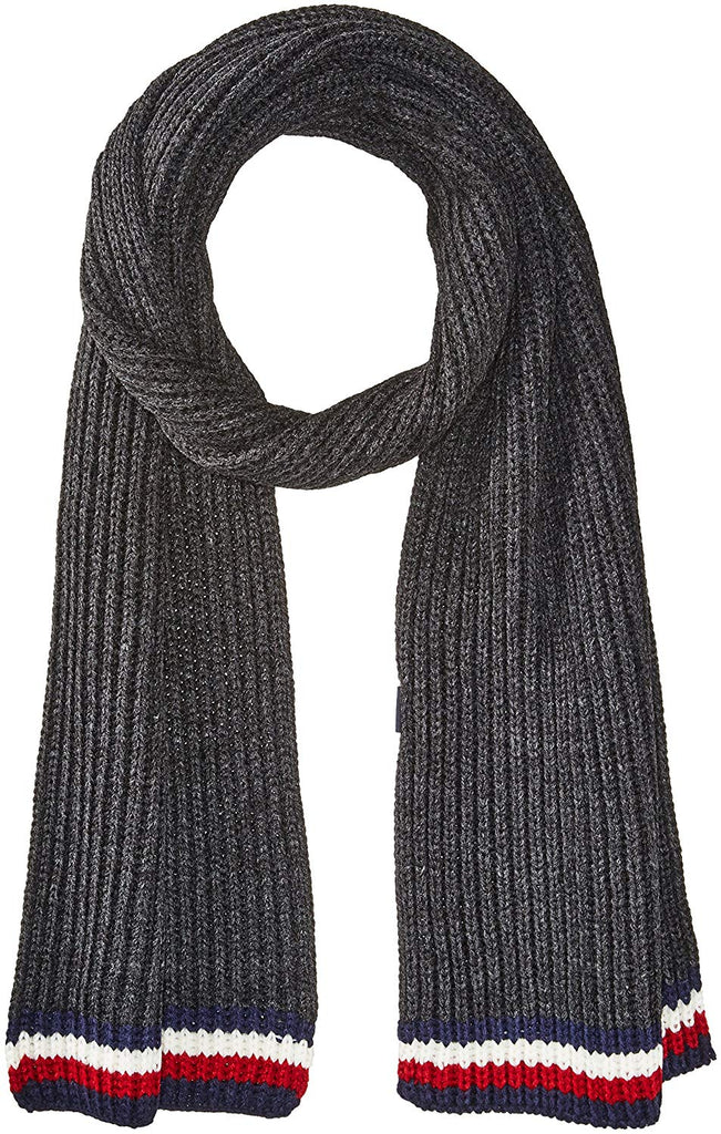 Hilfiger Mens Global Stripe Ribbed Scarf
