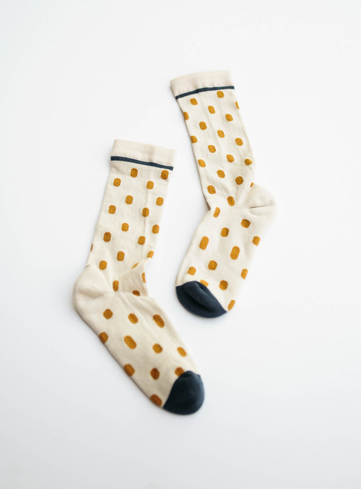 Cream Polka Dot Crew