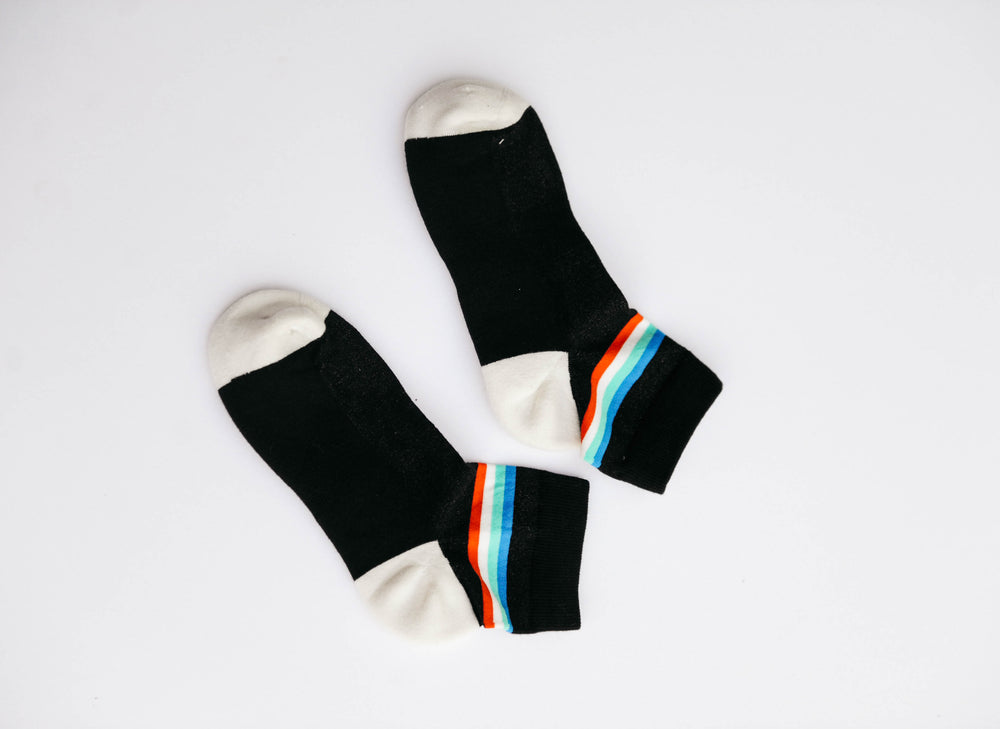 Black Retro Stripe Shorty