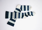 Men's Double Blue Stripe Crew