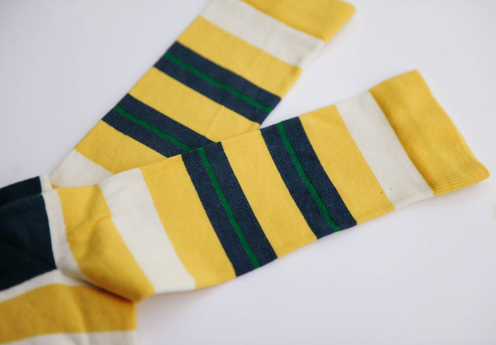 Men's Mellow Yellow Stripe Crew