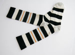 Men's Black Double Stripe Crew