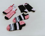 Black and Pink Anklet 3 pack
