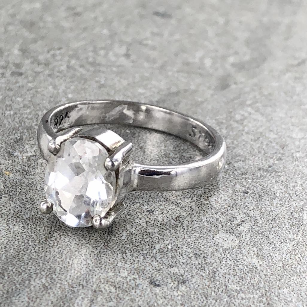 Herkimer Diamond Quartz | 925 Sterling Silver Ring | Ajna Jewels & Gems | Crystal Shop | Brisbane | Australia