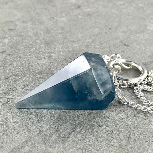 Blue Fluorite | Pendulum | Ajna Jewels & Gems | Crystal Shop | Brisbane | Australia