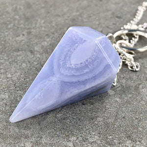 Blue Lace Agate | Pendulum | Ajna Jewels & Gems | Crystal Shop | Brisbane | Australia
