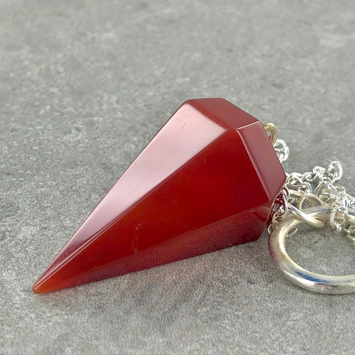 Carnelian | Pendulum | Ajna Jewels & Gems | Crystal Shop | Brisbane | Australia