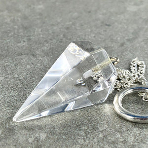 Clear Quartz | Pendulum | Ajna Jewels & Gems | Crystal Shop | Brisbane | Australia