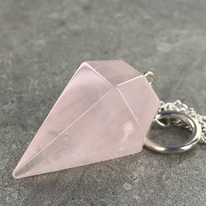 Rose Quartz | Pendulum | Ajna Jewels & Gems | Crystal Shop | Brisbane | Australia
