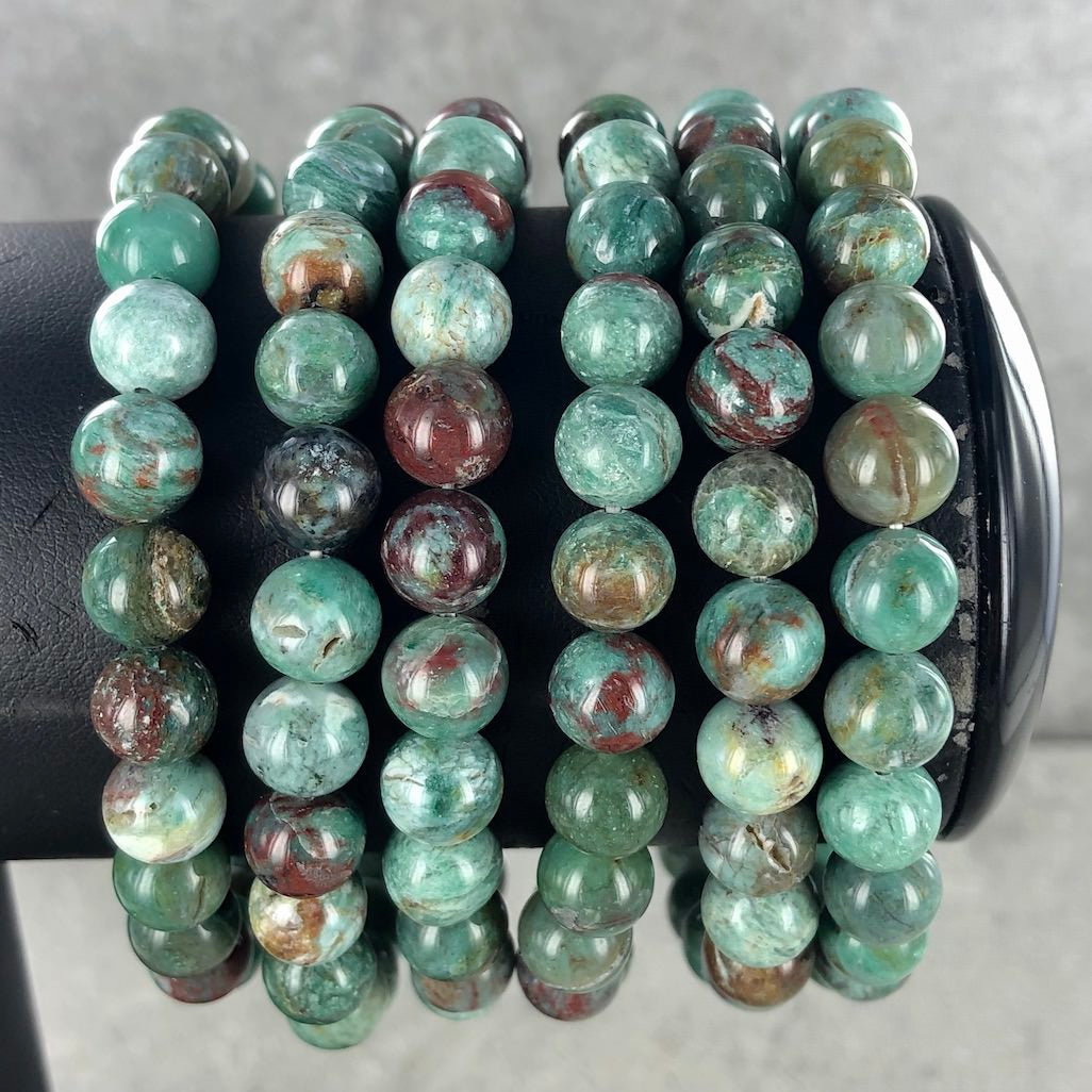 Australian Dragons Blood Jasper | 8mm Bracelet | Ajna Jewels & Gems | Crystal Shop | Brisbane | Australia