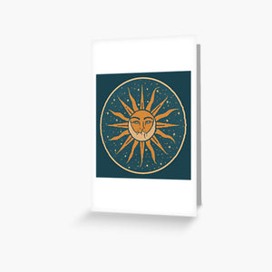 Sun and Moon Vintage Greeting Card