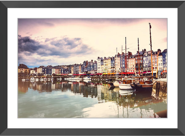 Old Harbor II Framed Giclee Print