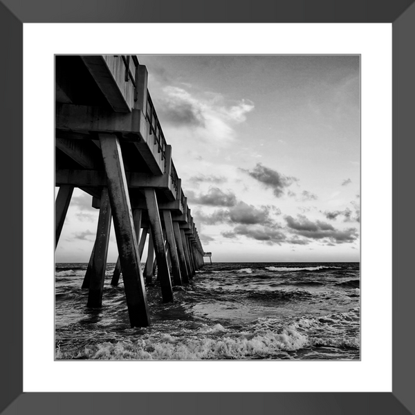 Pier Perspective II Framed Giclee Print