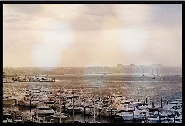 Framed Old Port Cove Marina canvas wrap