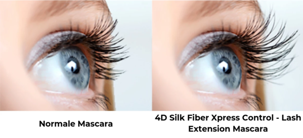 luxurious locks mascara 4d - 4D Silk Fiber Xpress Control - Lash Extension Mascara