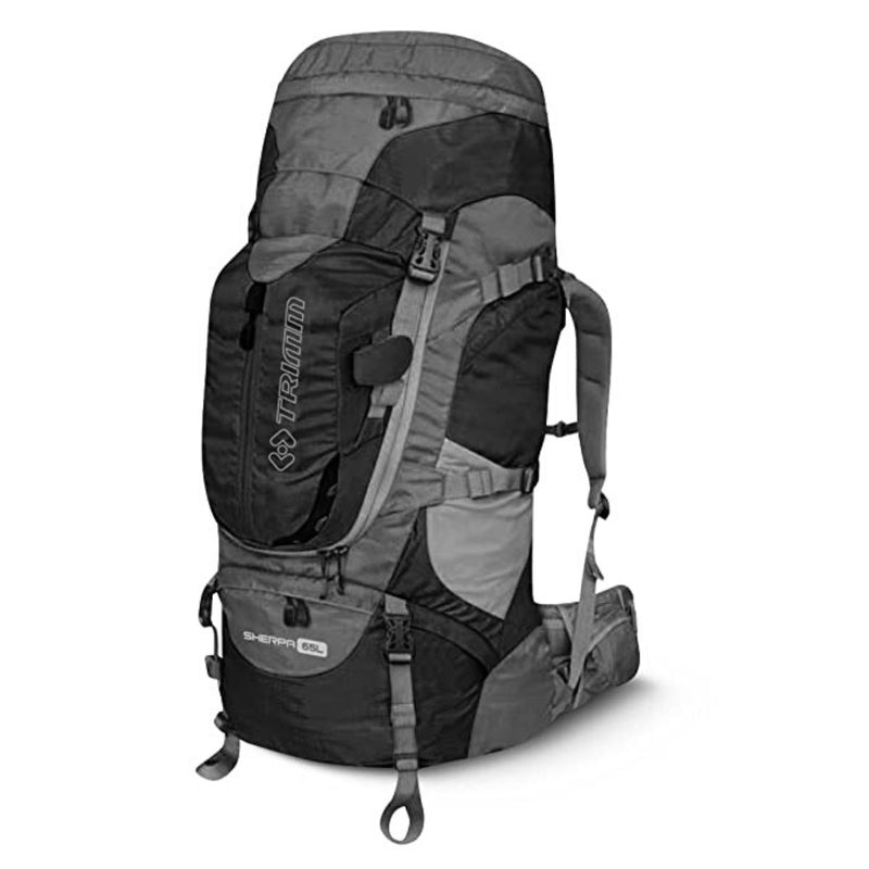 Sherpa 65L Backpack - Black+Dark Grey