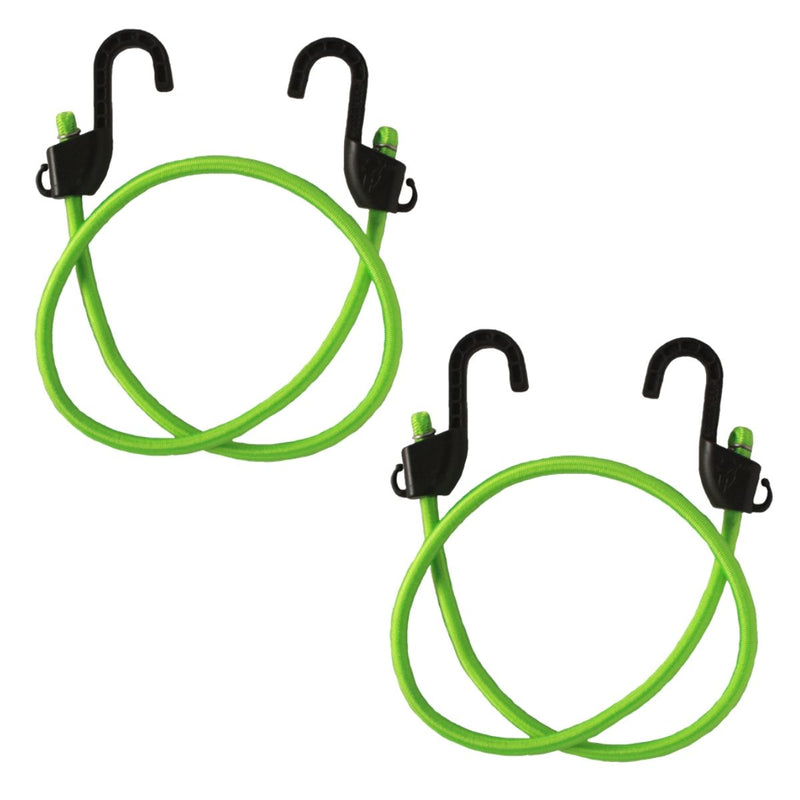 Grappler Bungee Tie-Down - 36 inches - Flourescent Green - 8mm - Pack of 2