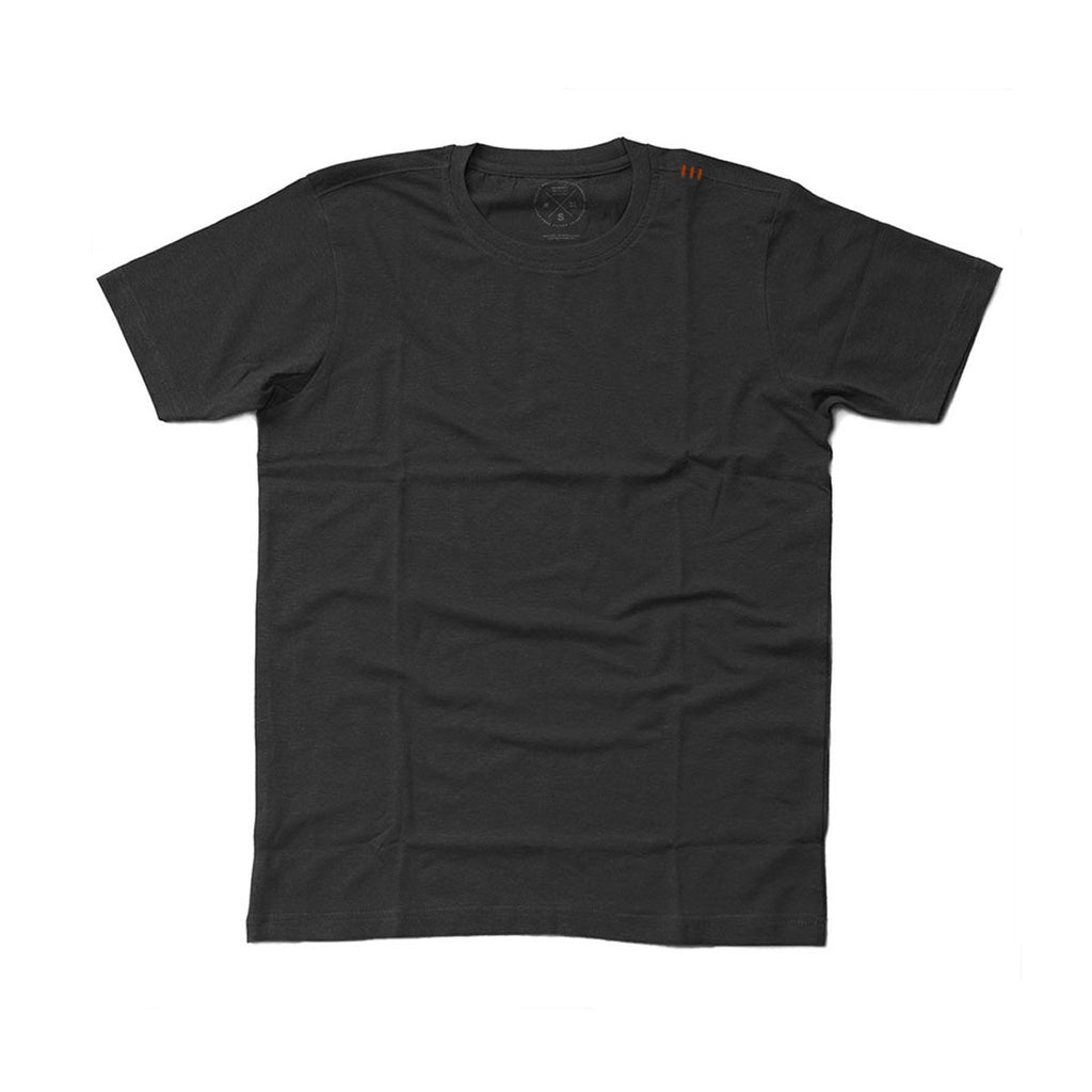 Men's Crew Cut Tee - Washed Black - Bamboo Fabric