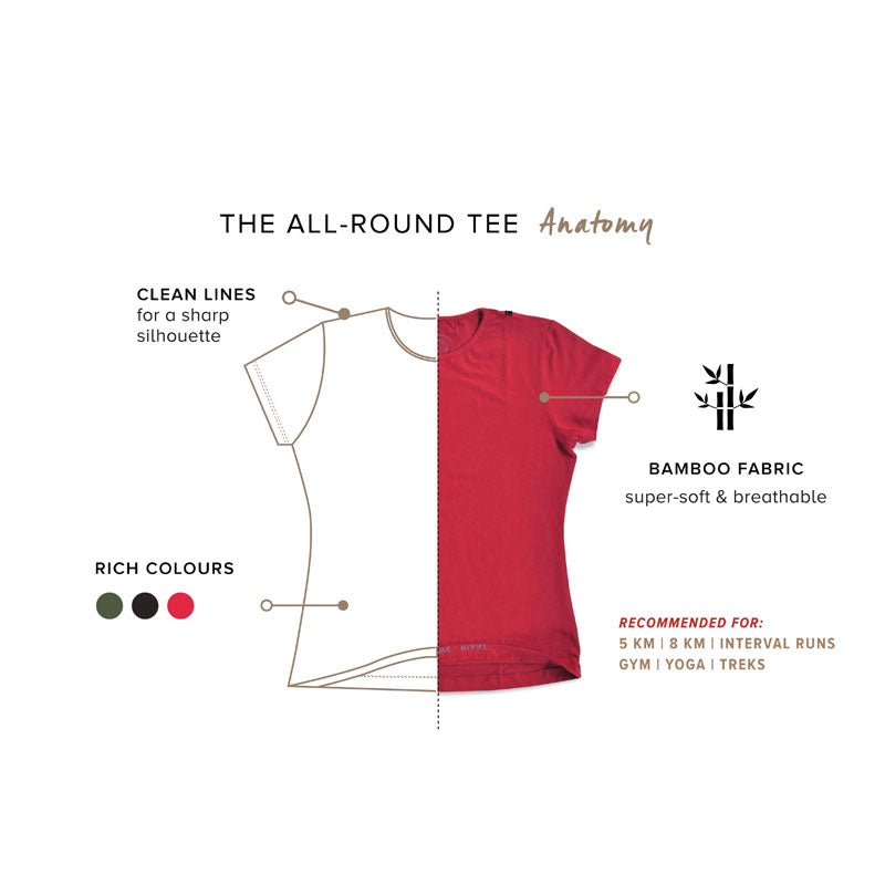 Women's Crew Tee - Cherry Red - Bamboo Fabric