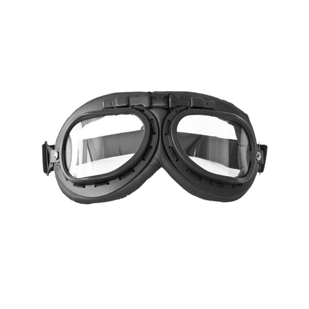Motorbike Eyewear - Anti Fog - Black Leather