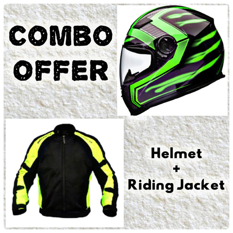 Laundry Service - Pack of 2 - Moto Helmet and Jacket
