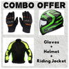 Laundry Service - Pack of 3 - Moto Gloves, Helmet and Jacket