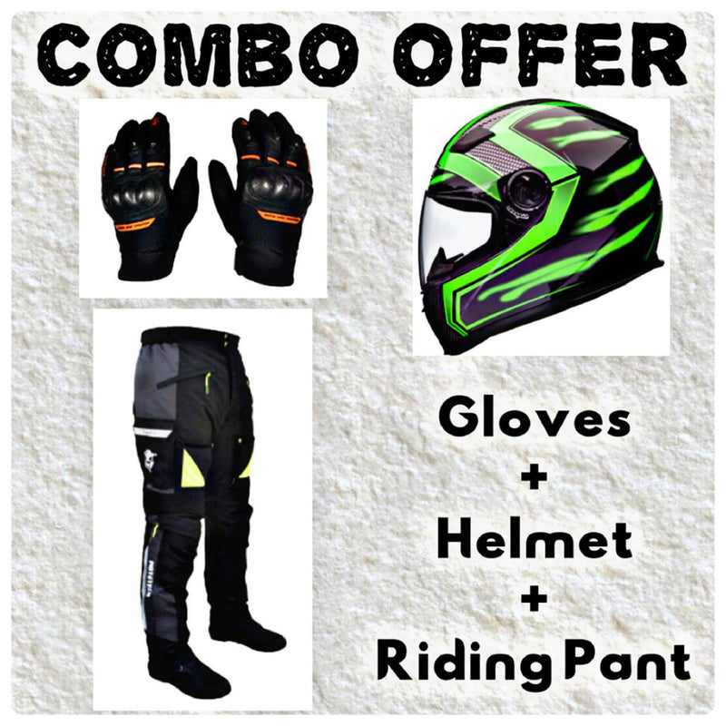 Laundry Service - Pack of 3 - Moto Gloves, Helmet and Pants