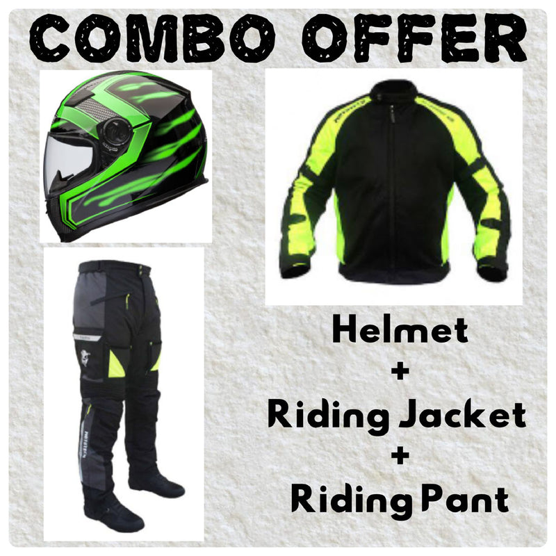 Laundry Service - Pack of 3 - Moto Helmet, Jacket and Pants