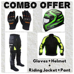 Laundry Service - Pack of 4 - Moto Gloves, Helmet, Jacket and Pants