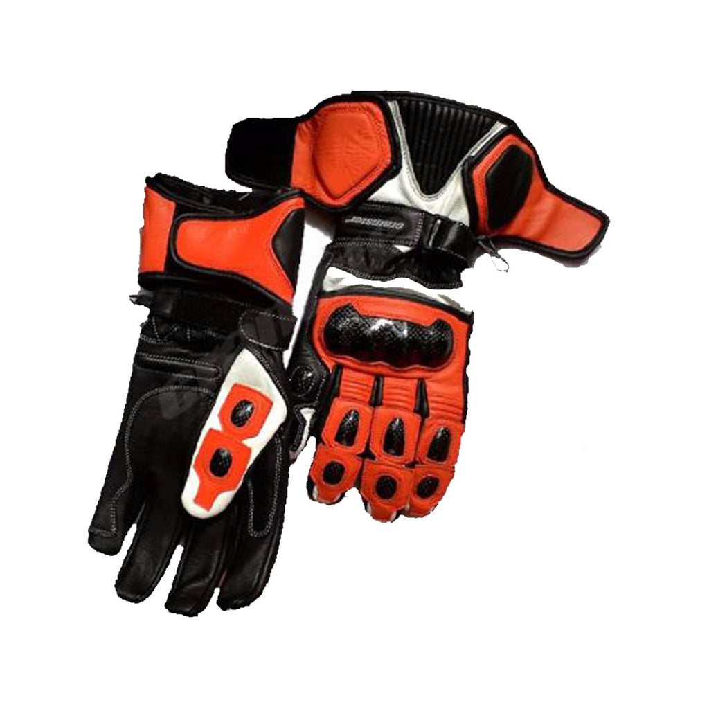 TRG2 - Full Gauntlet - Riding Gloves - Black/Orange
