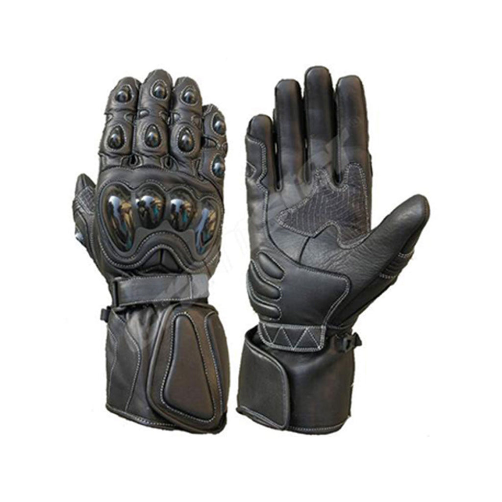 Raven - Full Gauntlet Gloves - Black