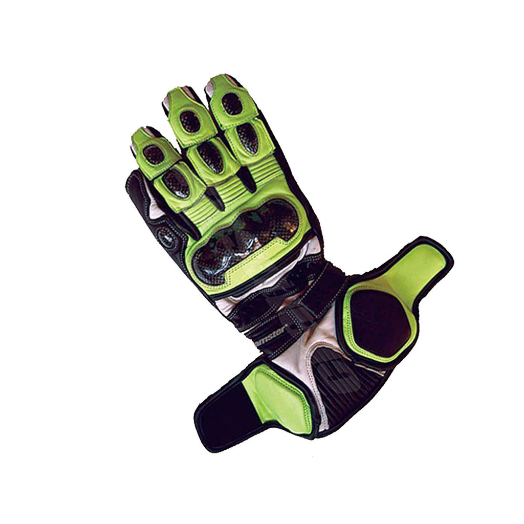 TRG2 - Full Gauntlet - Riding Gloves - Black/Green