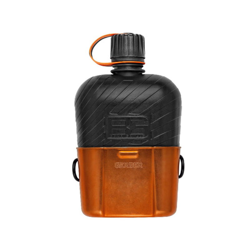 Canteen Water Bottle with Cooking Cup – Survival