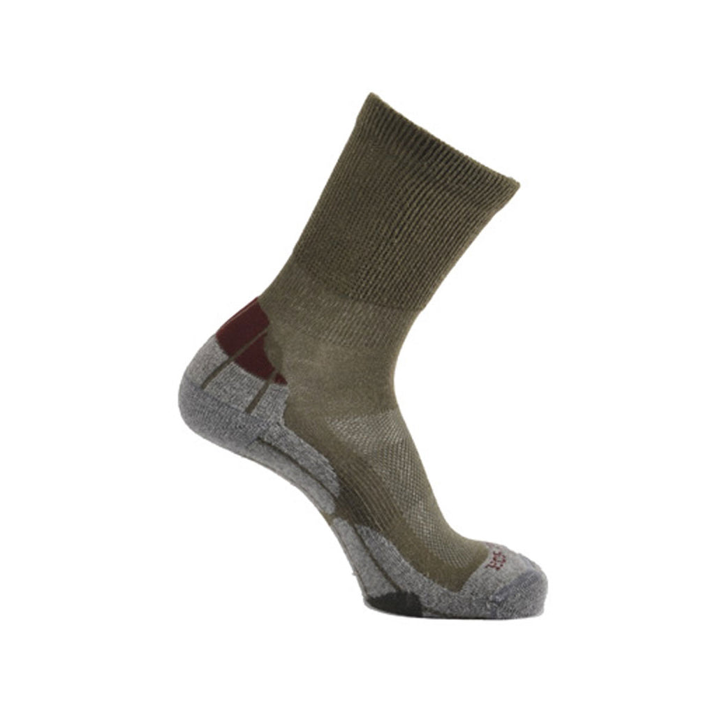 Coolmax® Hiker (Technical Socks) - Khaki/Grey/Bordeaux