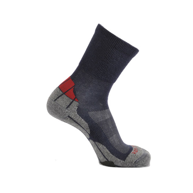 Coolmax® Hiker (Technical Socks) - Navy/Grey/Red