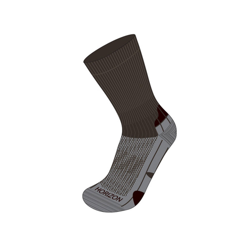 Coolmax® Hiker (Technical Socks) - Mocca/Grey/Expresso