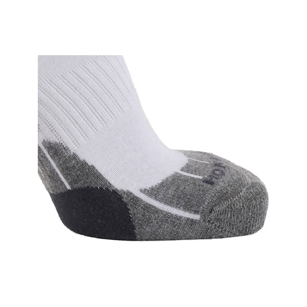 Technical Sport Quarter Socks - White/Grey/Charcoal