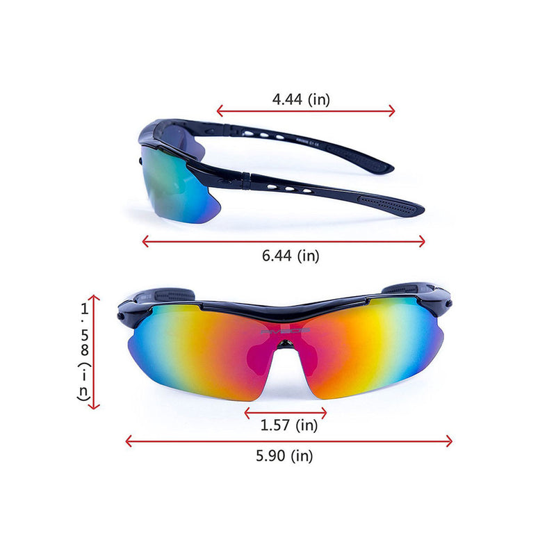 Eyewear for Cycling & Outdoors - Santorini Black