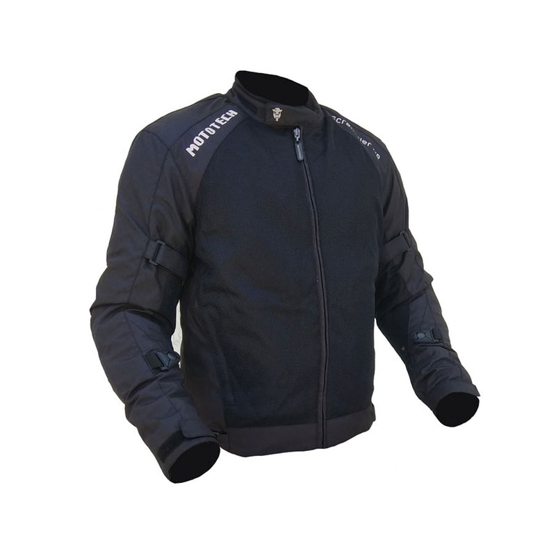 Scrambler Air Motorcycle Riding Jacket - Black