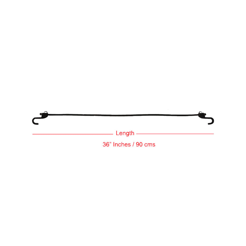 Grappler Bungee Tie-Down - 36 inches - Black - 8mm - Pack of 2