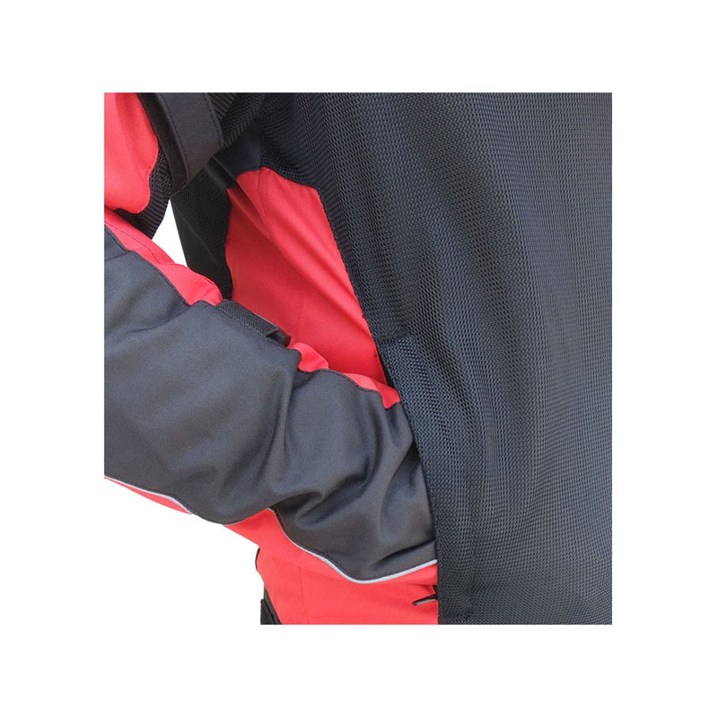 Scrambler Air Motorcycle Riding Jacket - Red