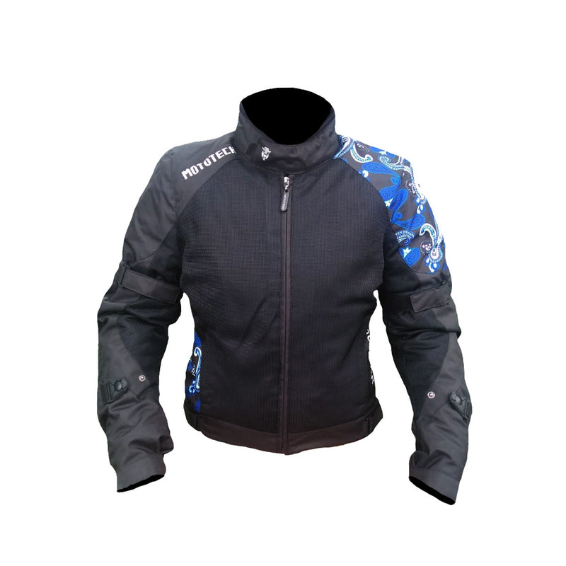 Scrambler Air Women's Motorcycle Jacket - Blue - Level 2