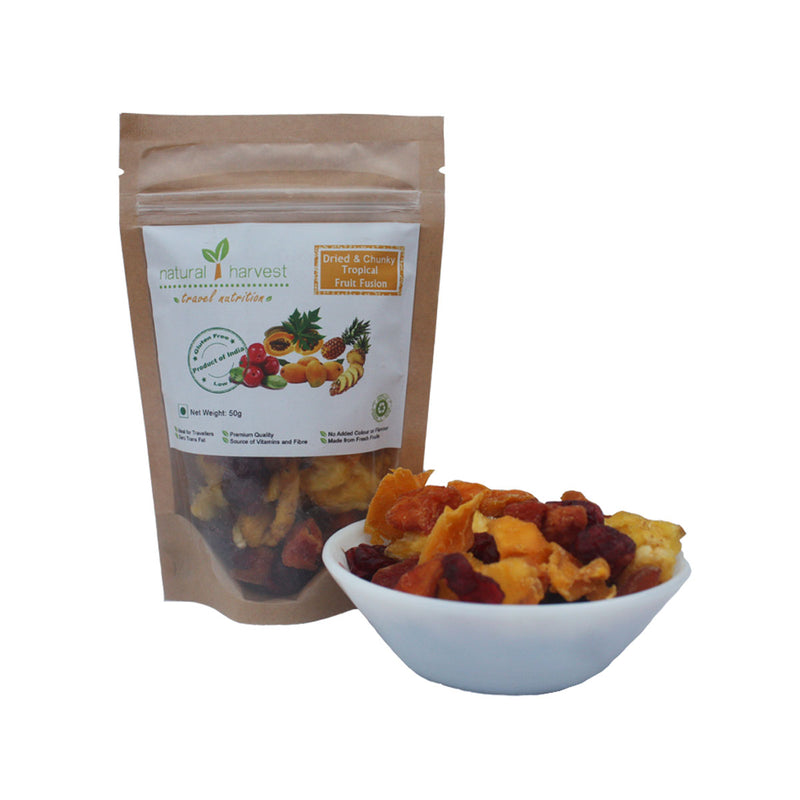 Dried and Chunky Tropical Fruit Fusion