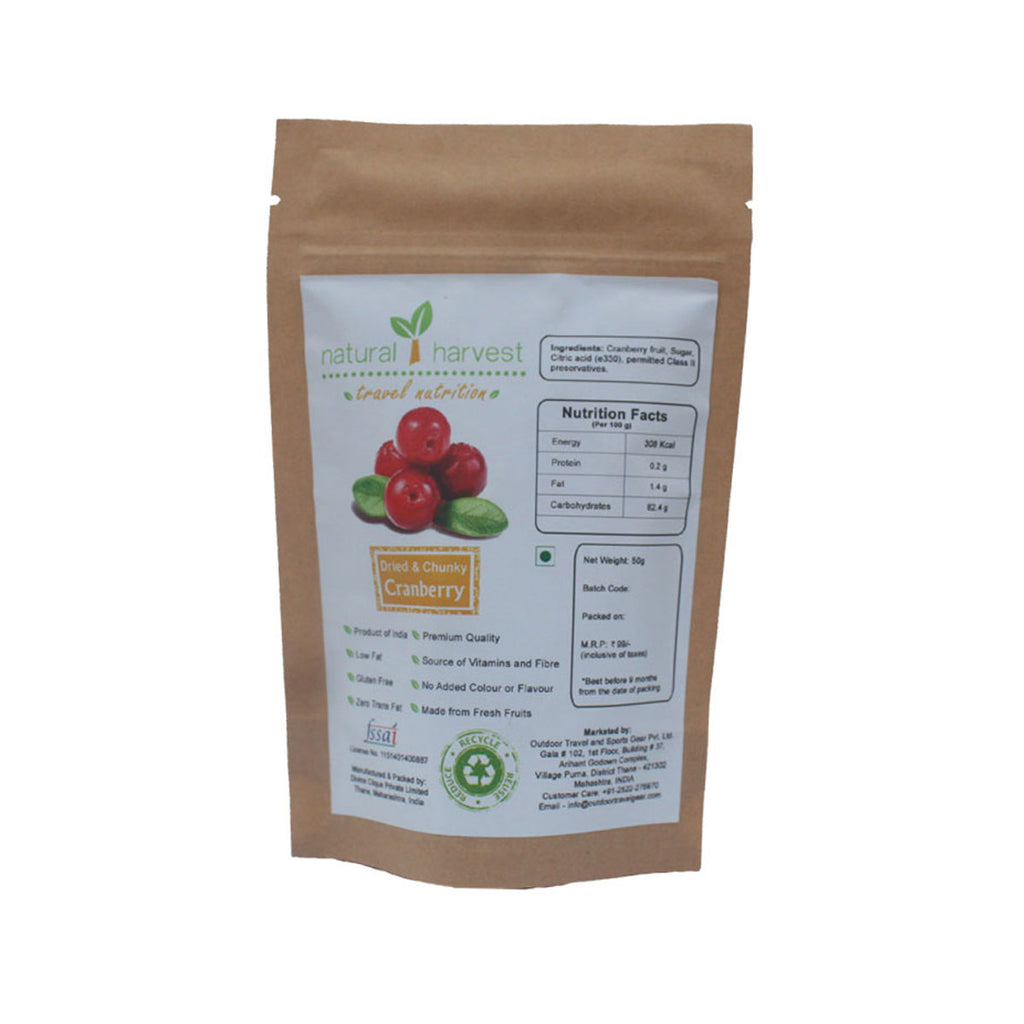 Dried and Chunky Cranberry - Biodegradable Pack