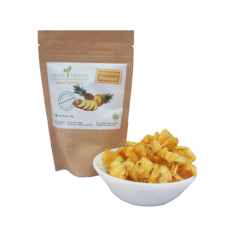 Dried and Chunky Pineapple - Biodegradable Pack