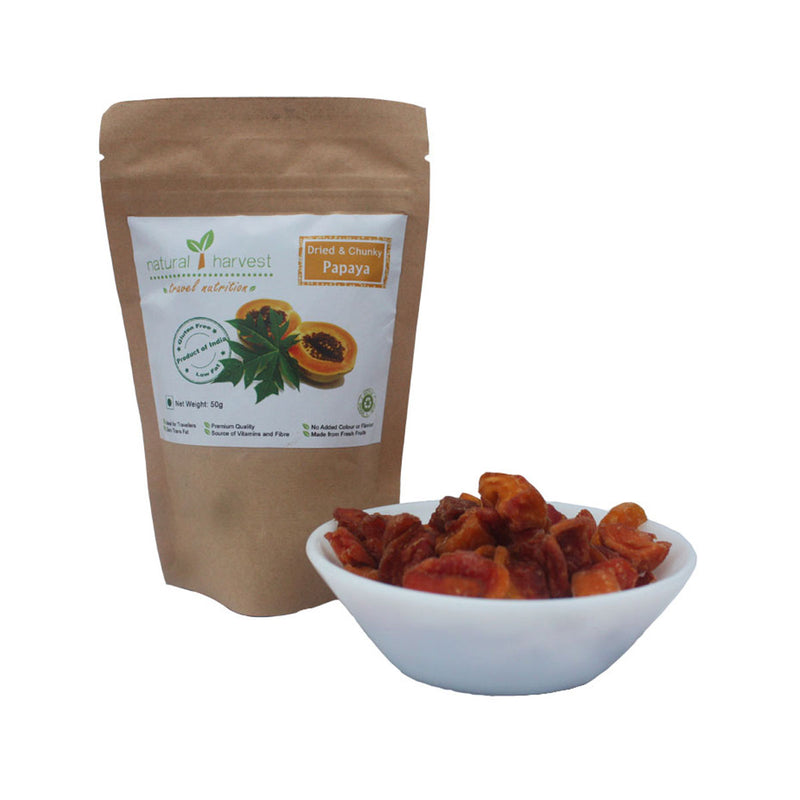 Dried and Chunky Papaya - Biodegradable Pack